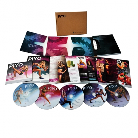PiYo Workout DVD Beachbody Chalene Johnson's Base Kit Fitness 5 Dsic Set